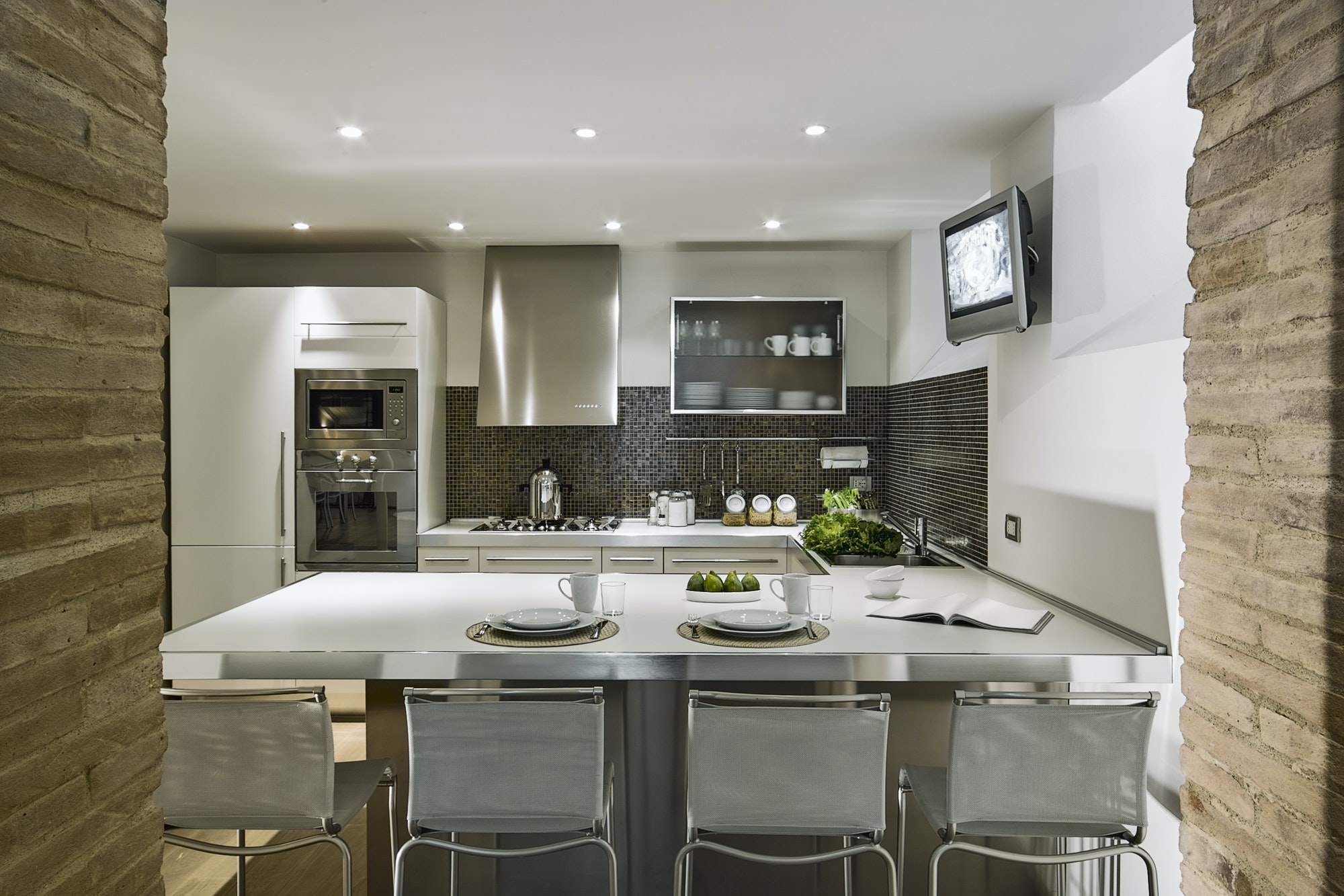 Interiors of the Kitchen in a Modern Apartment